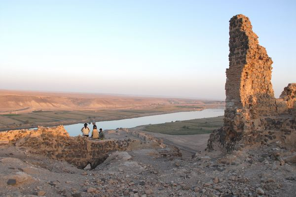 Zenobia, View across the Euphrates from the summit
