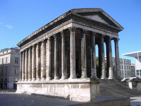 Nîmes, Maison Carrée from NW
