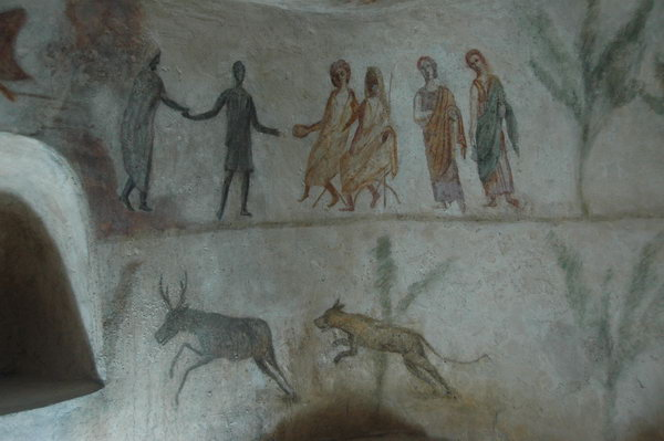 Janzur, Tomb painting, Proserpina and Pluto