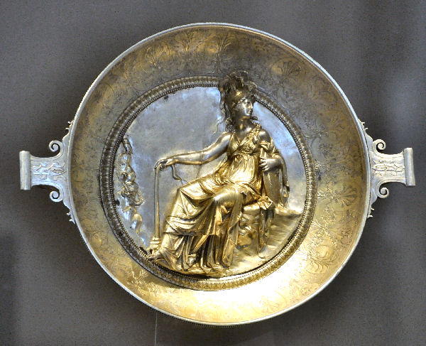 Silver dish from the Hildesheim treasure