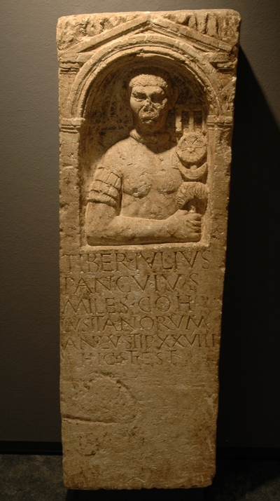 Neuss, tombstone of Tiberius Julius Pancuius