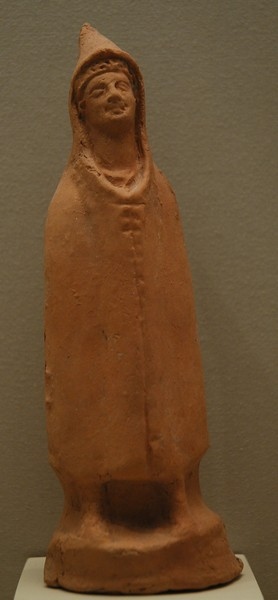 Amphipolis, statuette of a cloaked man