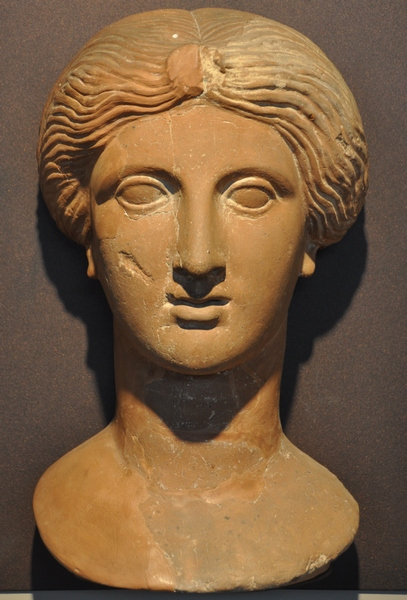 Olynthus, Clay portrait of a lady