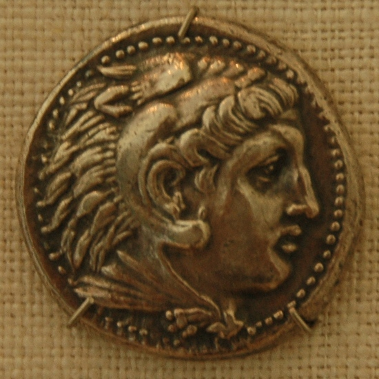 Pella, Heracles on a coin