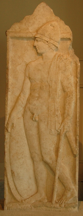 Tombstone of a Macedonian warrior