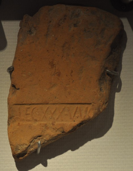 Voorburg, Rooftile with the sign XXX Ulpia Victrix