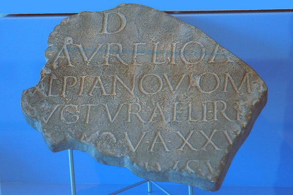 Copy of an inscription from Rome, mentioning Noviomagus