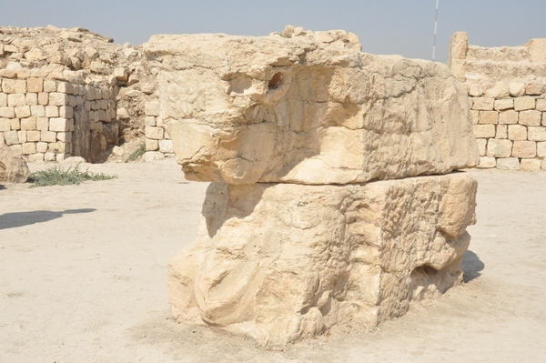 Bishapur, so-called Temple of Anahita, bull's head