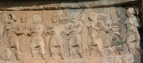 Bishapur, Relief 3, tribute bearers (1)