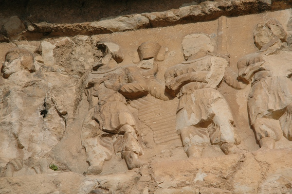 Bishapur, Relief 3, tribute bearers with a diadem