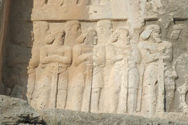 Bishapur, Relief 6, Persian officers