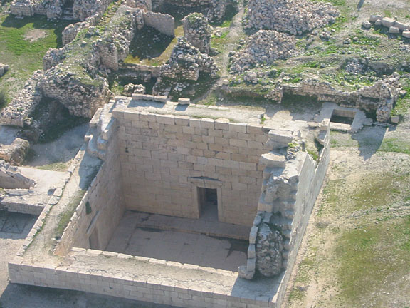 Bishapur, so-called Temple of Anahita, aerial view