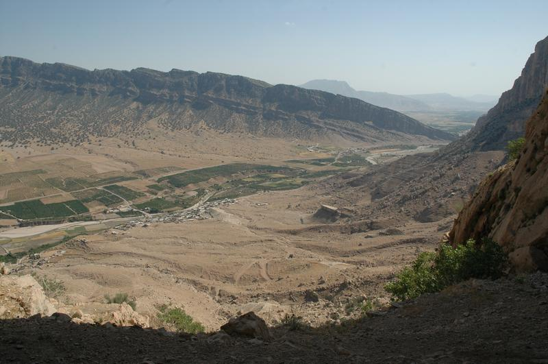 Bishapur, View from the Cave of Shapur