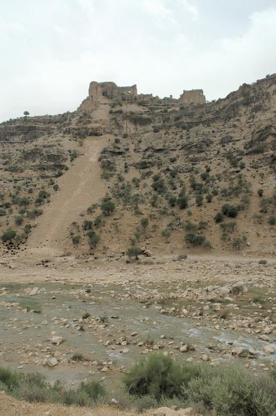 Firuzabad, Qalah-e Dokhtar from the valley (1)