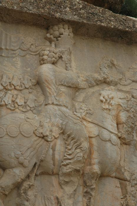Naqš-e Rajab, investiture relief of Shapur I, Ahuramazda (1)