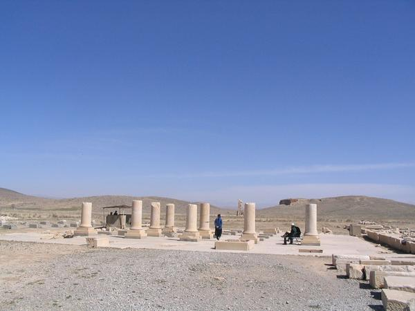 Pasargadae, Palace P, general view