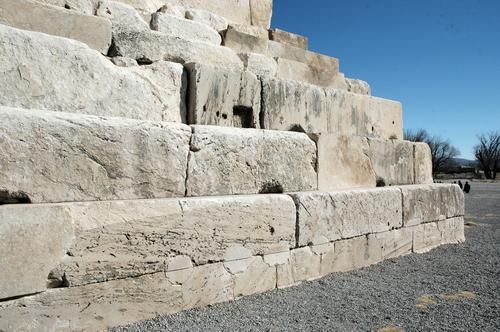Tomb of Cyrus, lower rows of stones