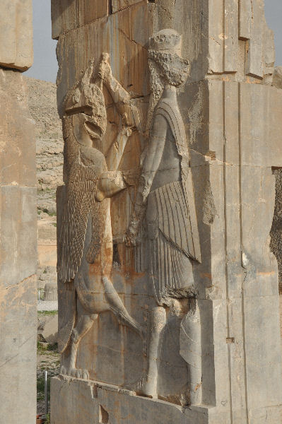"Persepolis, Hall of 100 Columns, ""Royal Warrior"""