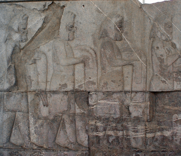 Persepolis, Apadana, East Stairs, southern part, Medes (1)