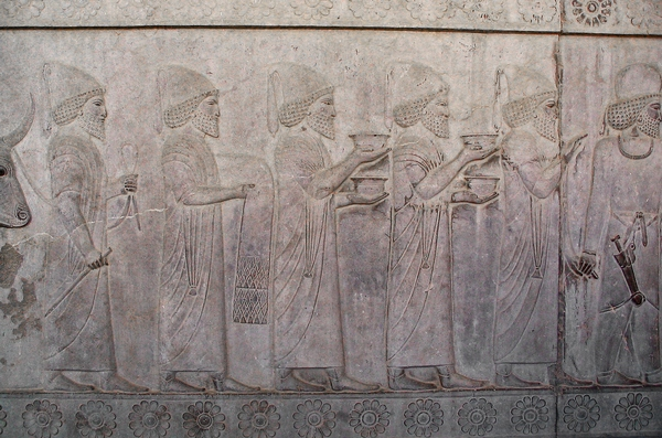 Persepolis, Apadana, East Stairs, southern part, Babylonians (2)