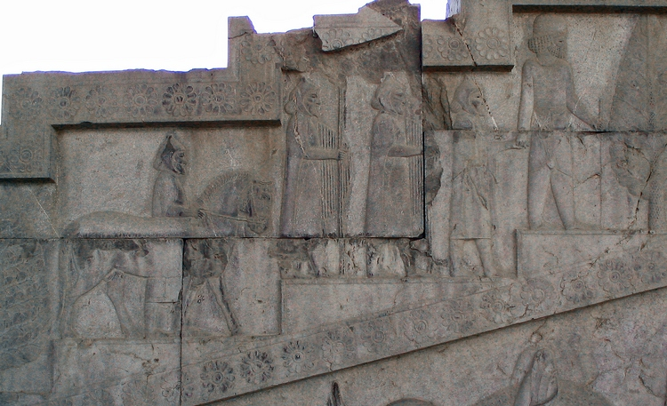 Persepolis, Apadana, East Stairs, Southern part, Thracians (1)