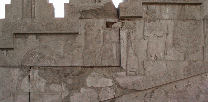 Persepolis, Apadana, East Stairs, Southern part, Arabs