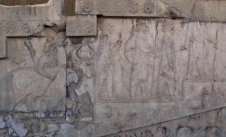 Persepolis, Apadana, East Stairs, Southern part, Carians