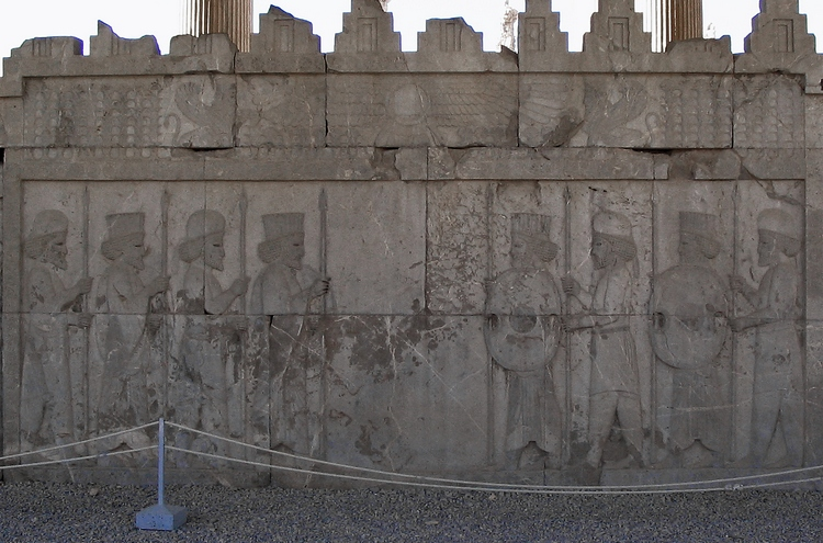 Persepolis, Apadana, East Stairs, Central frieze (1)