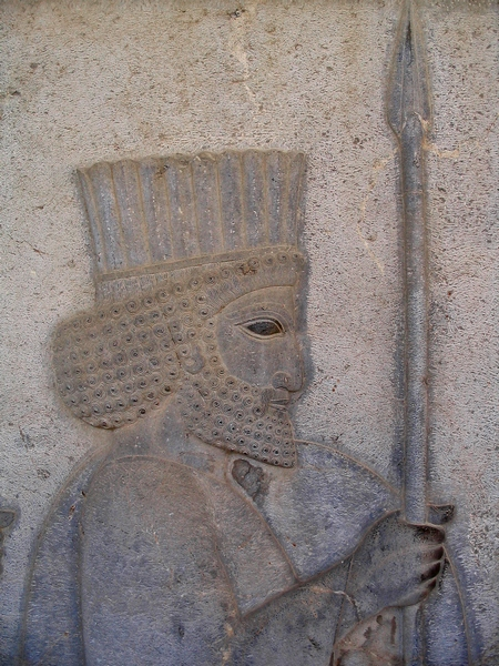 Persepolis, Apadana, East Stairs, Central frieze, Soldier
