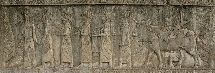 Apadana, North Stairs, Tribute Bearers, Babylonians