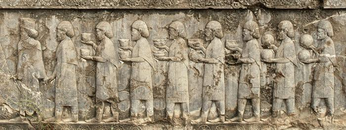 Persepolis, Apadana, North Stairs, Tribute Bearers, Greeks