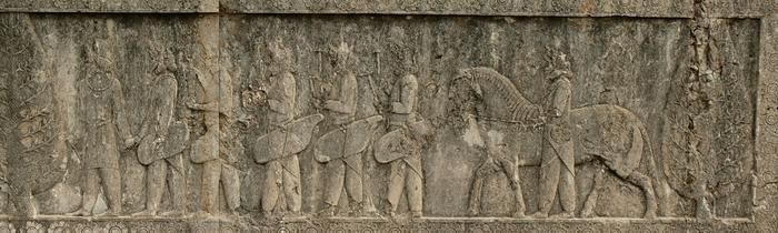 Apadana, North Stairs, Tribute Bearers, Sogdians