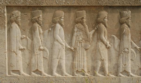 Persepolis, Apadana, North Stairs, Courtiers (1)
