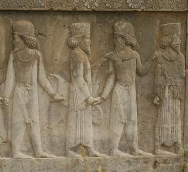 Persepolis, Apadana, North Stairs, Courtiers (2)