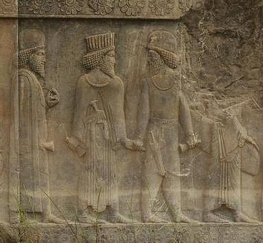 Persepolis, Apadana, North Stairs, Courtiers (4)