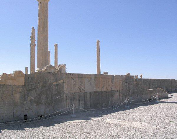 Persepolis, Apadana, North Stairs, general view