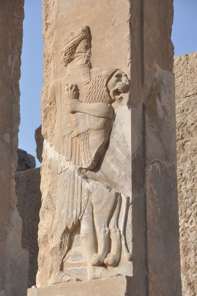 Persepolis, Palace of Darius, royal warrior