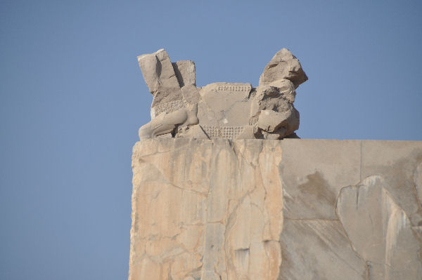 Persepolis, Gate of All Nations, Lintel with a capital