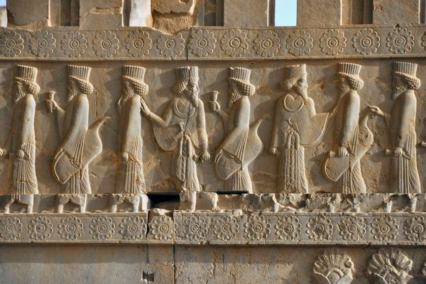 Persepolis, Tripylon, northern staircase, relief (1)