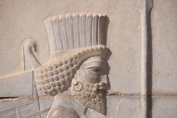 Persepolis, Tripylon, northern staircase, relief (3)