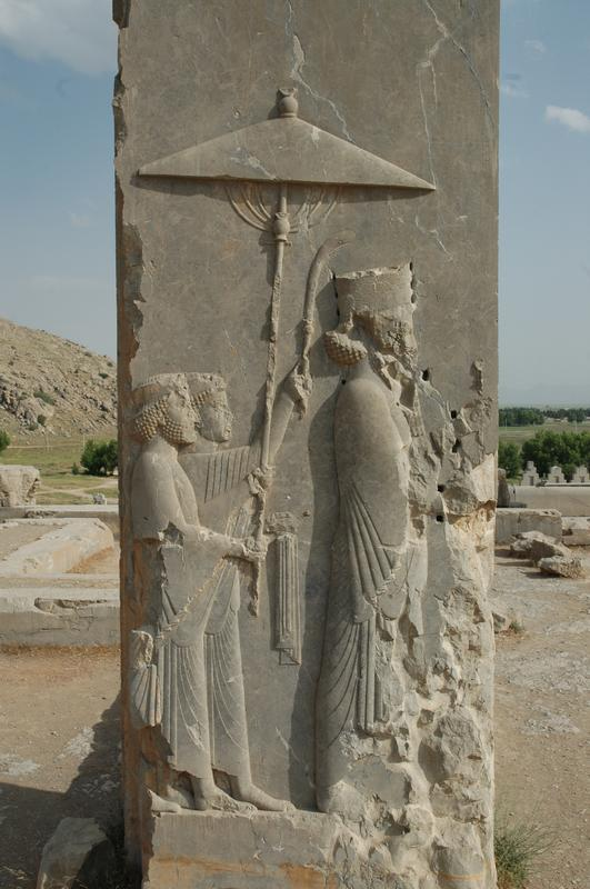 Persepolis, Palace of Xerxes, damaged Xerxes