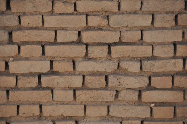 Susa, bricks of the terrace wall