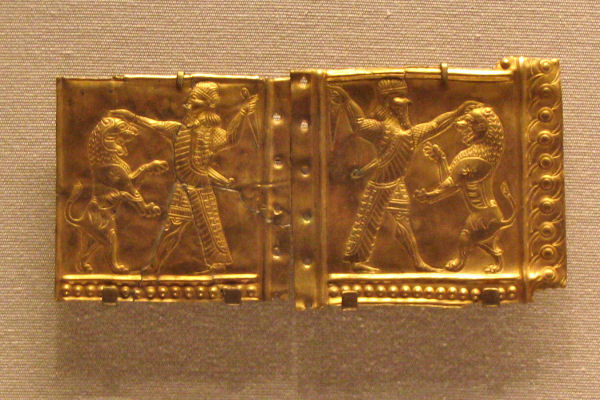 Susa, Gold plate with royal warrior
