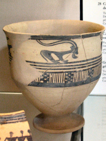 Tepe sialk, pot from the fourth millennium BCE