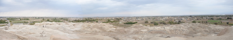 Tepe Sialk, southern hill, panorama