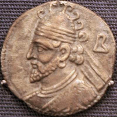 Vologases II, coin