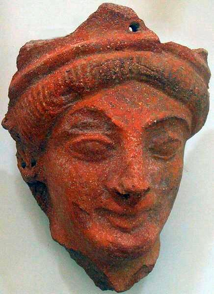 Motya, Greek terracotta mask