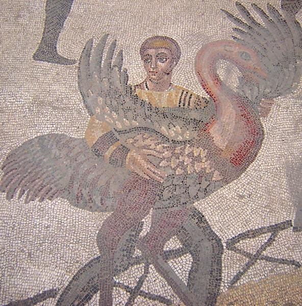 Piazza Armerina, 28 Great Hall, Man with an ostrich