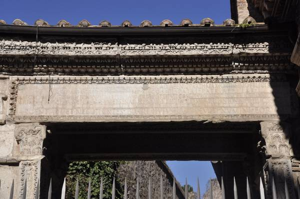 Rome, Arch of the Bankers, inscription