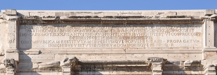 Arch of Severus, inscription